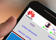 Huawei Intranet Smartphone Redesign
