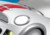 Covertable Mini Cooper Illustration
