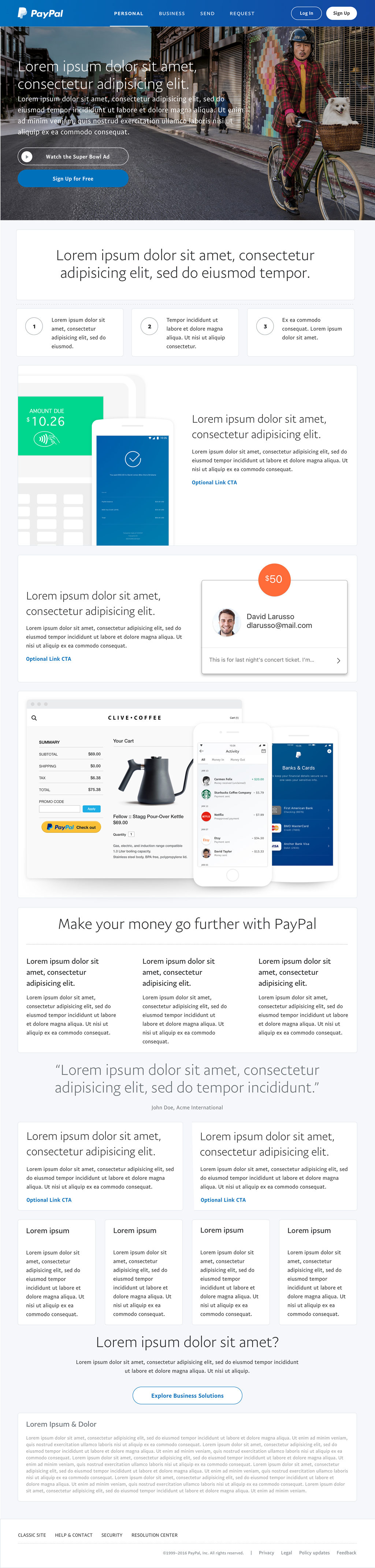 PayPal Home